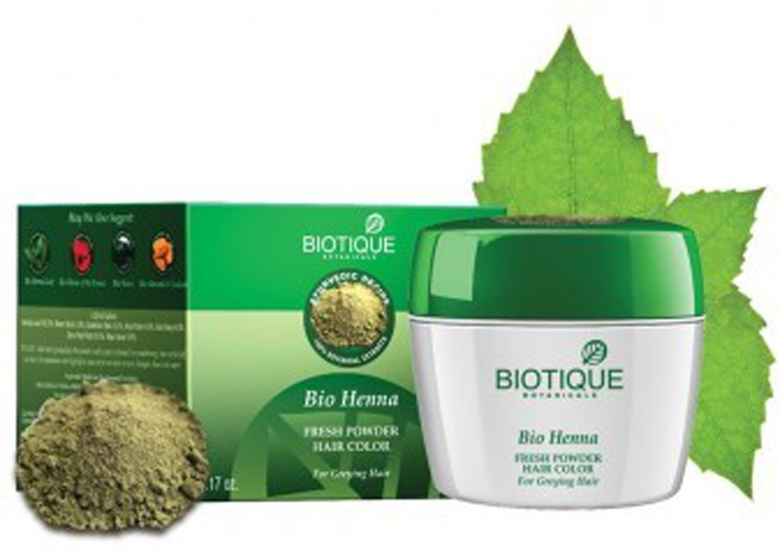 Biotique Bio Heena Fresh Powder Hair Color Image