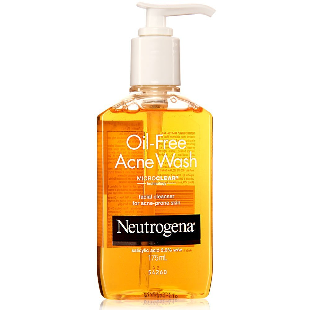 Image result for neutrogena oil free acne face wash