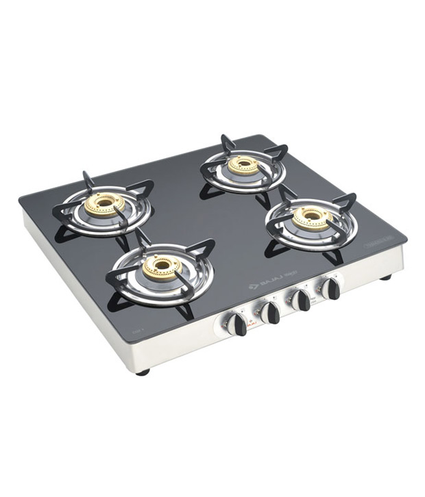 Bajaj 4 Burner CGX SS Glass Gas Cooktop Image