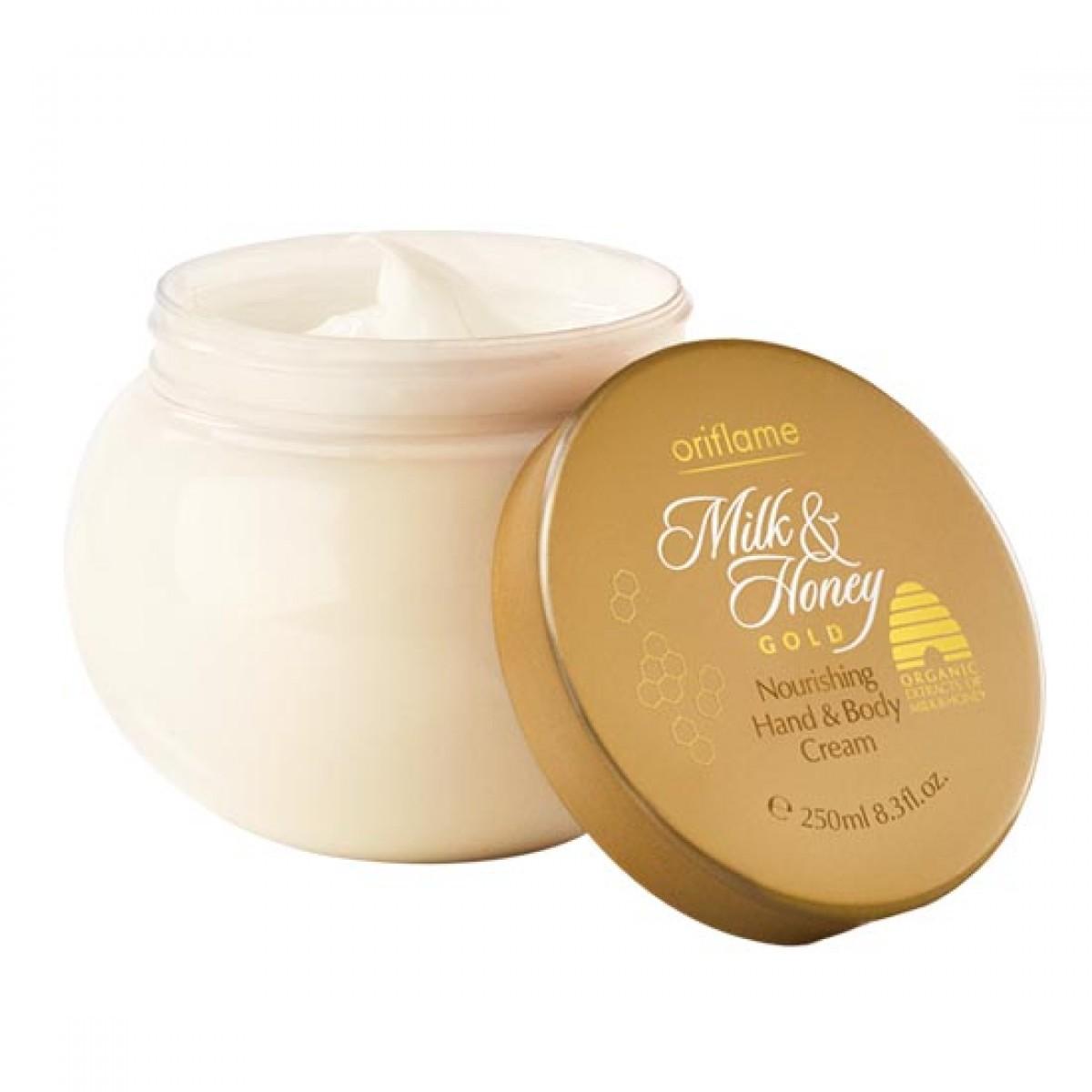 Oriflame Milk and Honey Gold Nourishing Hand and Body Cream Image