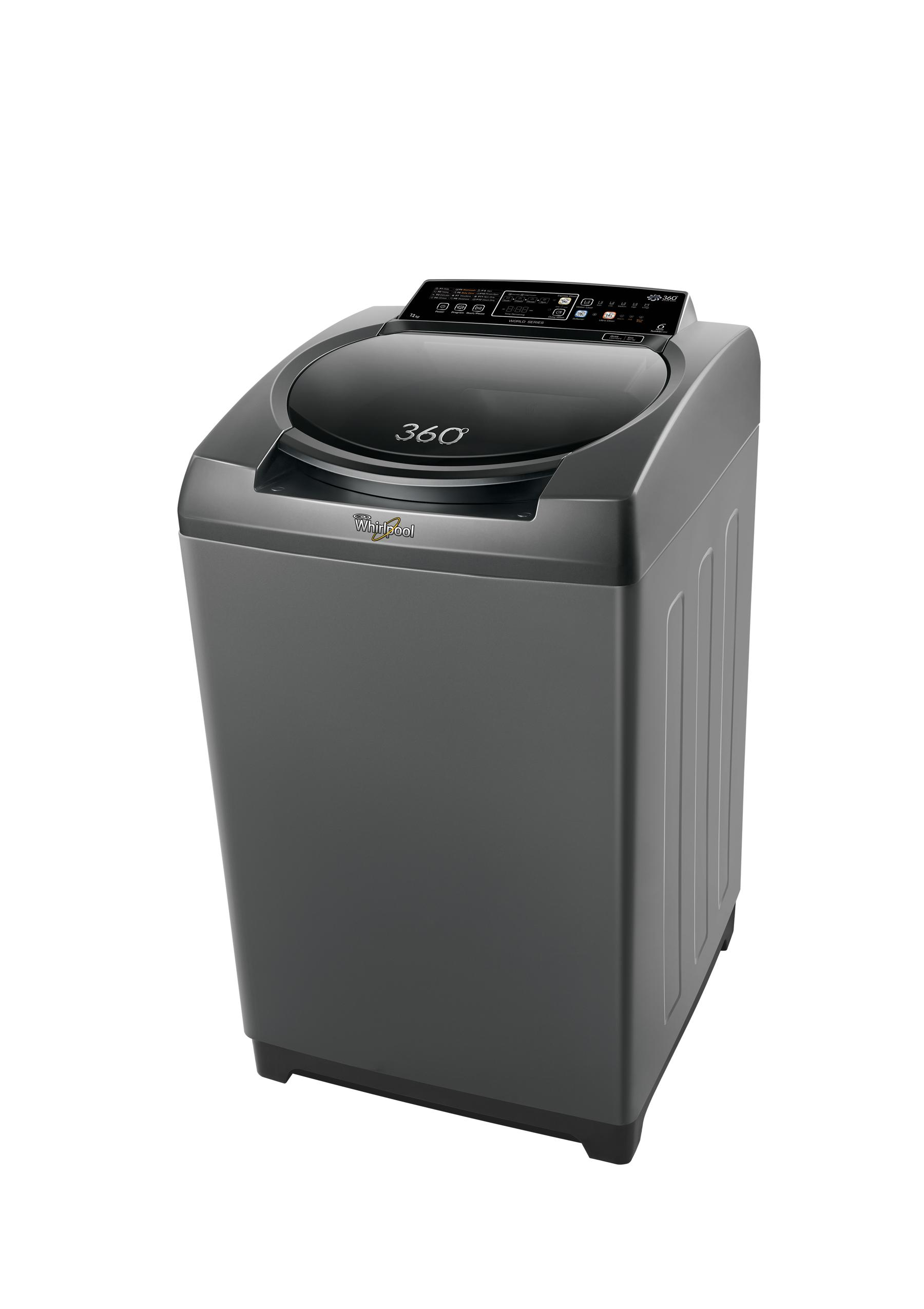 Whirlpool 360 Degree Bloom Wash 7.2 Kg Top Loading Fully Auto Graphite Washing Machine Image