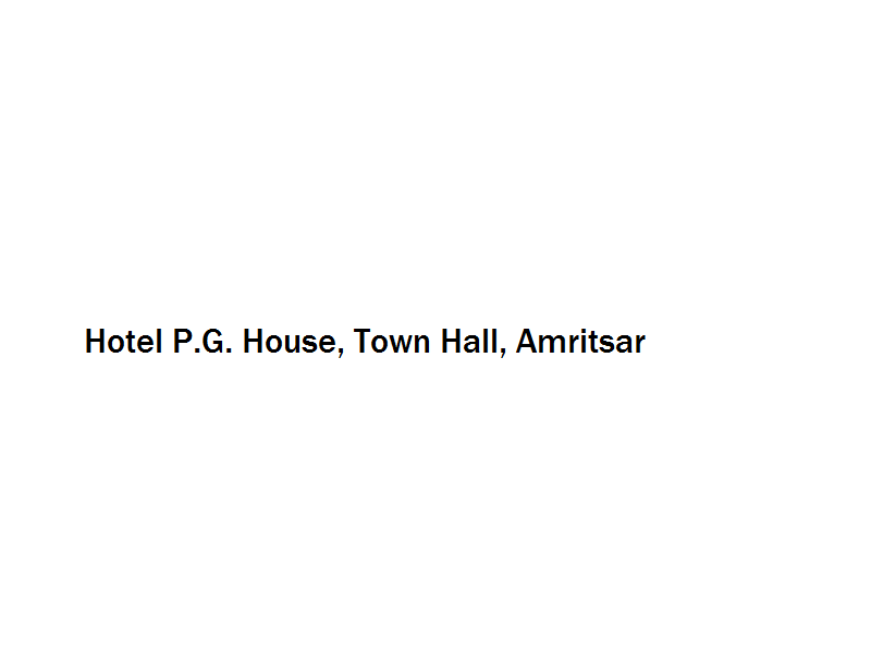 Hotel P.G. House - Town Hall - Amritsar Image