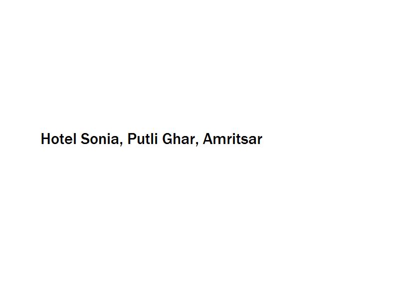 Hotel Sonia - Putli Ghar - Amritsar Image
