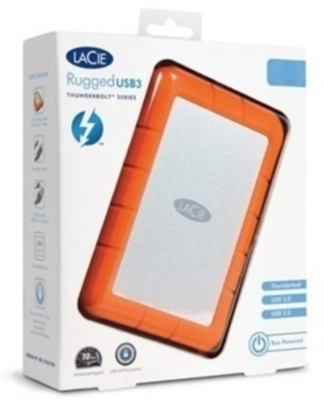 Lacie Rugged Usb 3.0 Thunderbolt 1 Tb External Hard Drive Image