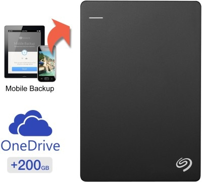 Seagate Backup Plus Slim 1 Tb 200 Gb Cloud Storage External Hard Drive Image