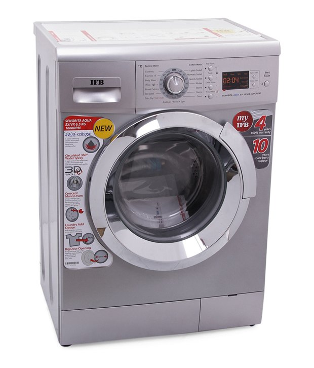 washing machine ratings ifb senorita aqua sx 1000rpm 6 5 kg fully automatic front 31321