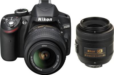 Nikon D3200 (with AFS 18 55mm VR Kit + AFS DX NIKKOR 35 mm f/1.8G DSLR Camera Image