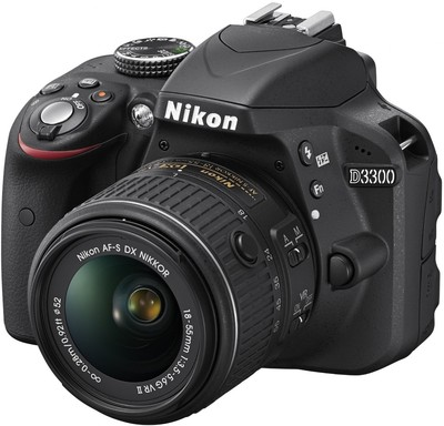 Nikon D3300 (Body with AFS 1855 mm VR II Kit Lens) DSLR Camera Image