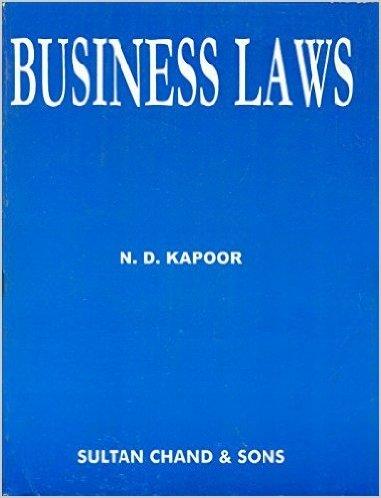 Business Law - N.D.Kapoor Image