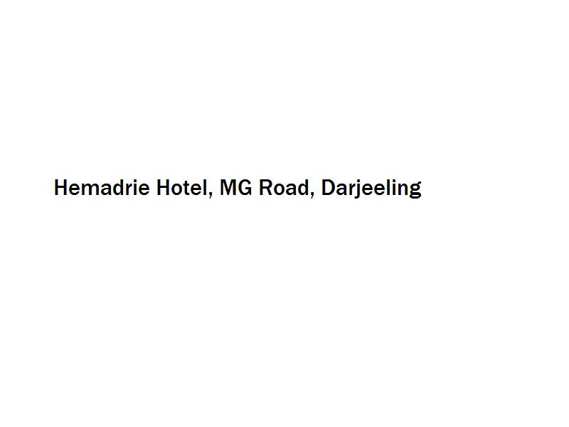 Hemadrie Hotel - MG Road - Darjeeling Image