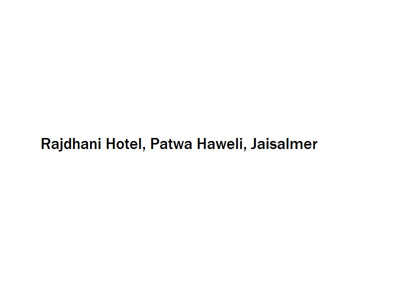 Rajdhani Hotel - Patwa Haweli - Jaisalmer Image