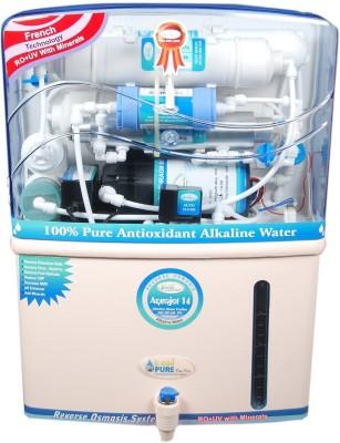 L'eaupure Aquajet 14gp 12 L RO + UV +UF Water Purifier Image