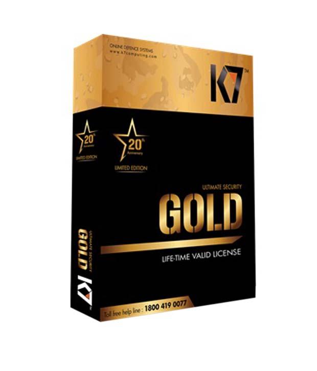 K7 Gold Lifetime Antivirus & Internet Security Image