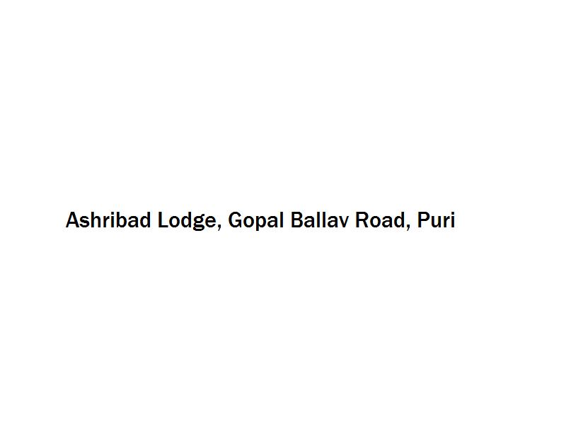 Ashribad Lodge - Gopal Ballav Road - Puri Image