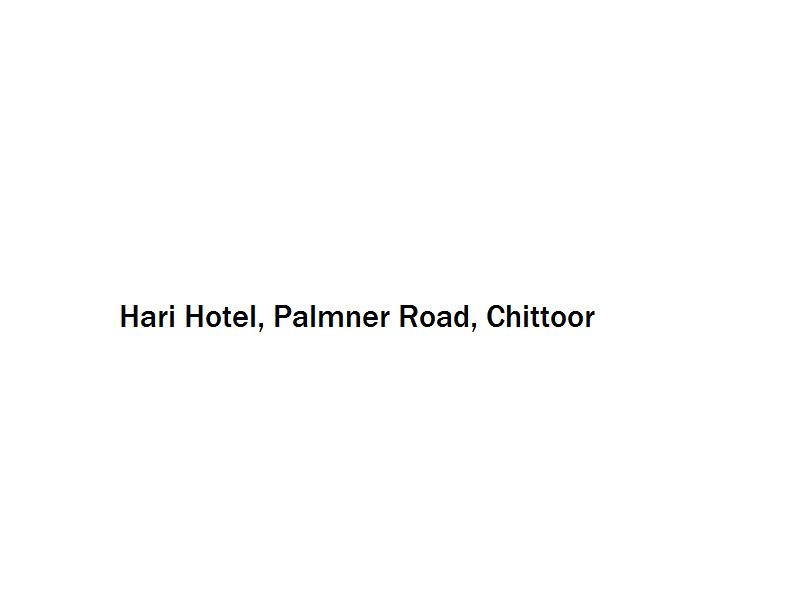 Hari Hotel - Palmner Road - Chittoor Image