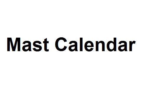 Mast Calendar Image