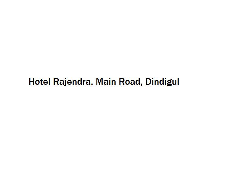 Hotel Rajendra - Main Road - Dindigul Image