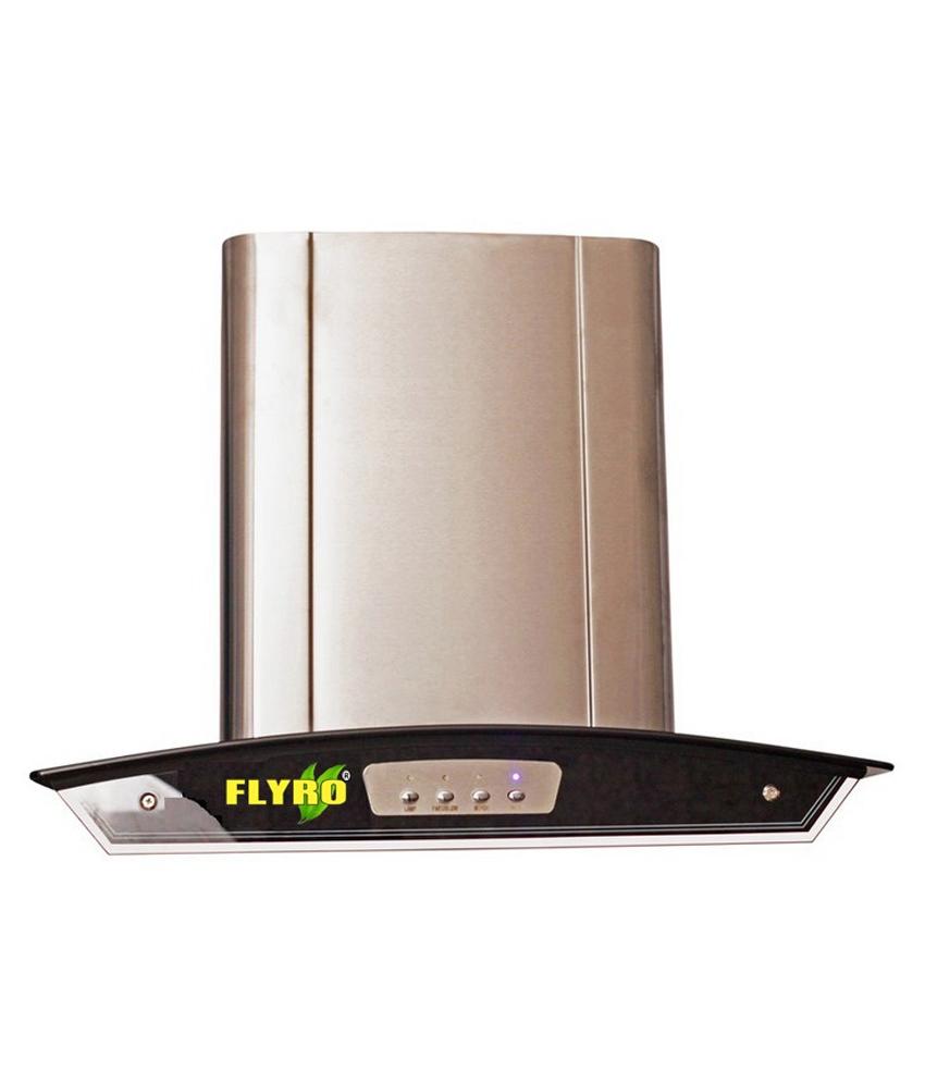 Flyro 60cm (1100 m3 hr) Glossy Push Buttons Hood Chimney Image