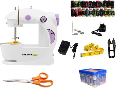 CreativeVia JH-43 Portable & Compact With Accessories Mini Electric Sewing Machine Image