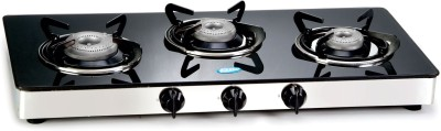 Glen Glass Cooktop Manual 3 Burner Gas Stove Image
