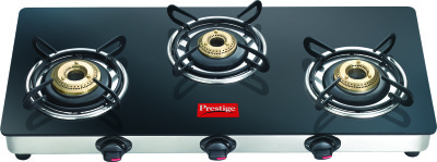 Prestige Marvel LP Gas Table with Glass Top Manual 3 Burner Gas Stove Image