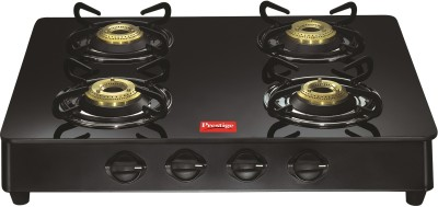 Prestige Royale LP Gas Table with Glass Top Manual 4 Burner Gas Stove Image