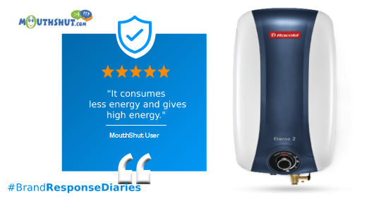 Racold Electric Storage Water Heater Eterno 2 10 L Image. Write Your Review