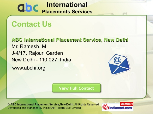 ABC INTERNATIONAL PLACEMENT SERVICES Reviews, Employee Reviews