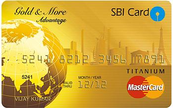 SBI Gold & More Advantage Credit Card Image