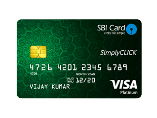 SBI Simply Click Credit Card Image