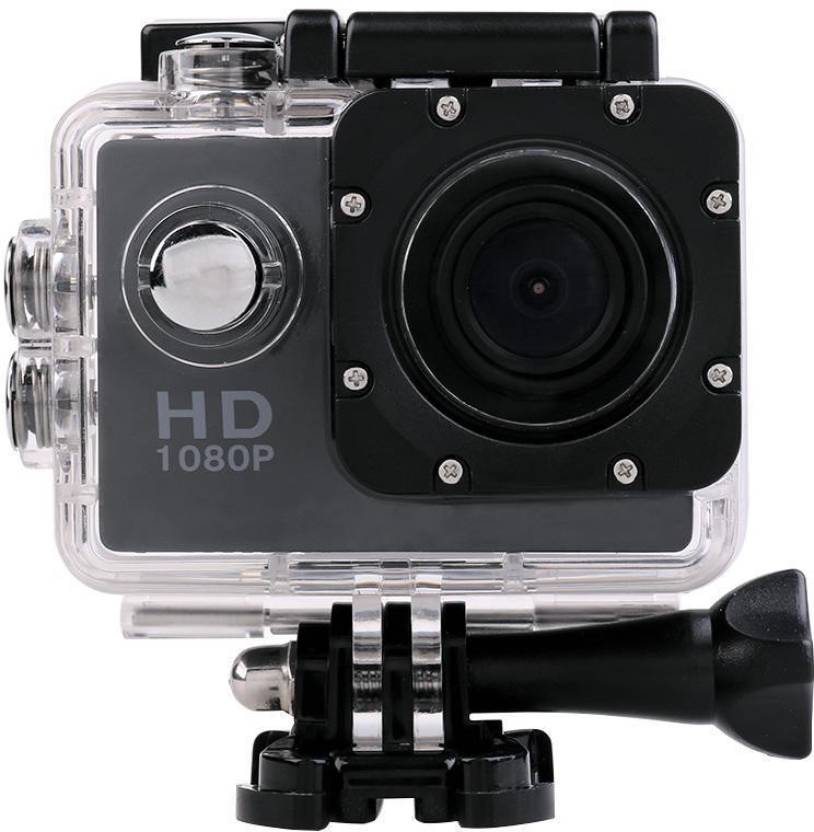 Wonder World Action Shot Sports Action Waterproof Camcorder 1080P mini HD Cam Holder Sports & Action Camera Image