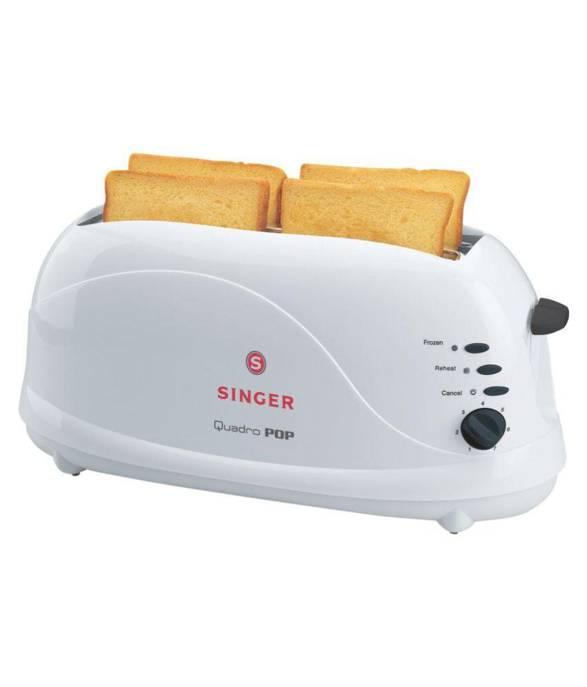 Singer Quadro Pop 1100 Watts Pop Up Toaster Image