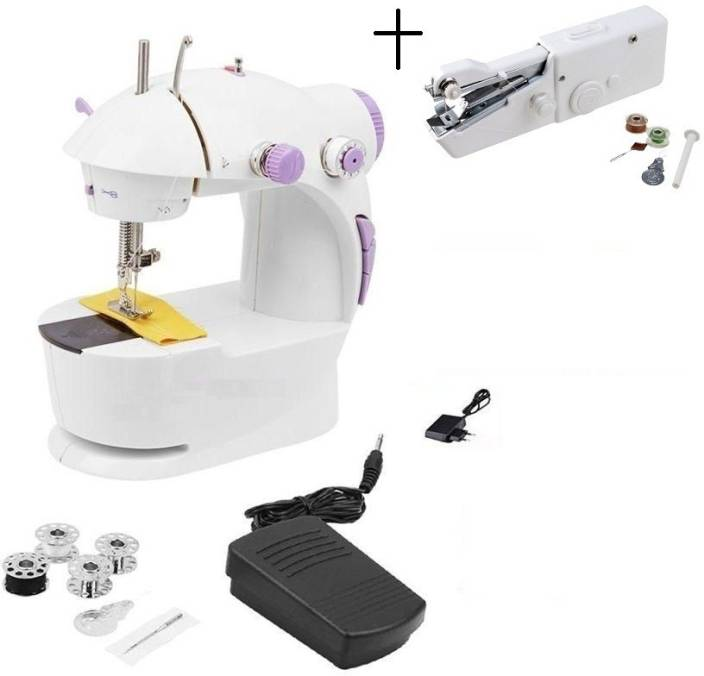 Bluebells India Handheld Stitch & 4 in 1 Portable Electric Sewing Machine Image