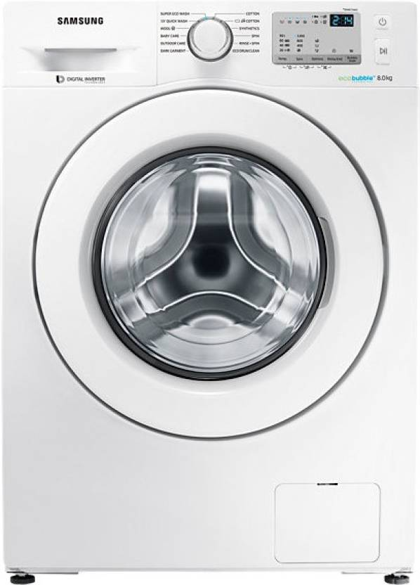 Samsung 8 kg Fully Automatic Front Load Washing Machine (WW80J4213KW/TL) Image