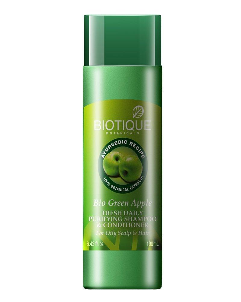 Biotique Bio Green Apple Fresh Daily Purifying Shampoo & Conditioner Image