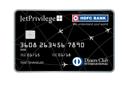 HDFC Bank Jet Privilege Diners Club Credit Card Image