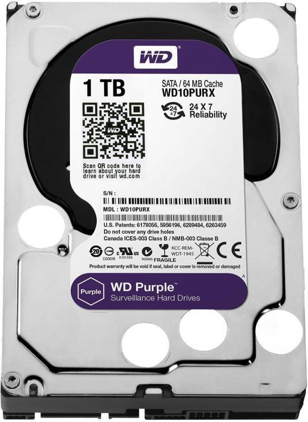 WD 1 TB Wired External Hard Disk Drive Image