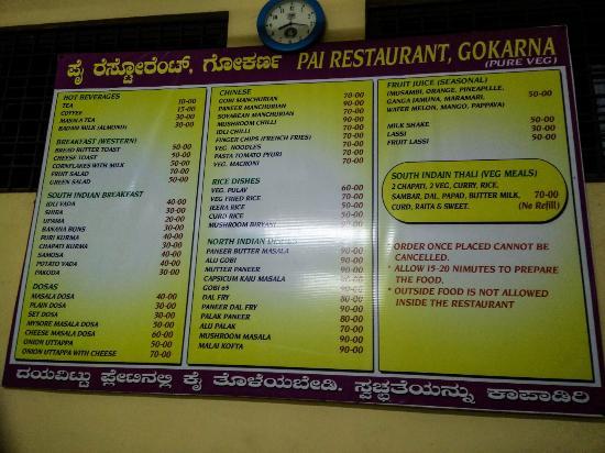 Pai Restaurant - Subhash Chowk - Gokarna Image