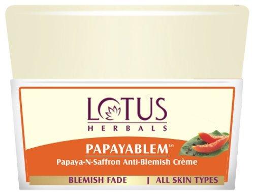 Lotus Herbals Papayablem Papaya-n-Saffron Anti-Blemish Cream Image
