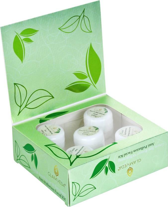 Glamveda Green Tea Power Whitening Facial Kit Image