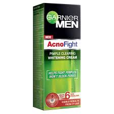 Garnier Men Acno Fight Pimple Clearing Whitening Cream Image