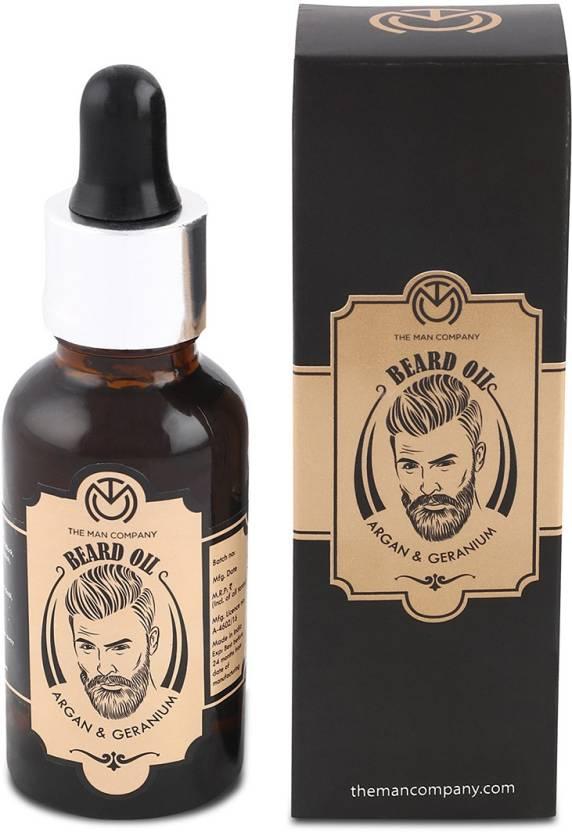 The Man Company Beard Oil- Argan & Geranium Hair Oil Image
