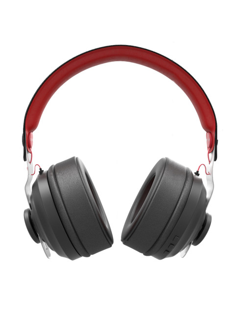 Boult Black & Red Boost HD Wireless Over Ear Headphones with Mic Image