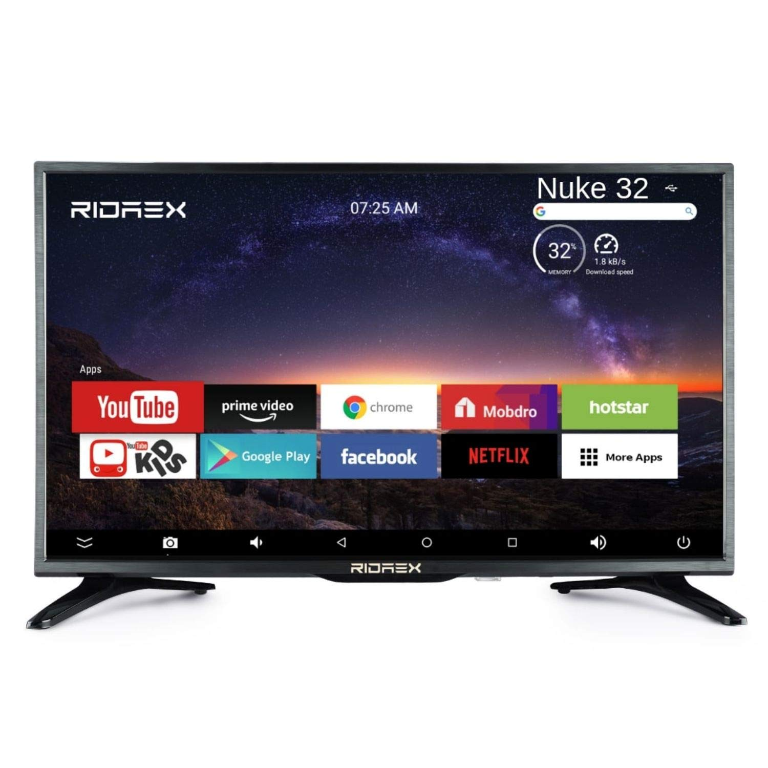 RIDAEX RE-1320 32 INCH ANDROID SMART TV - Reviews | Price ...