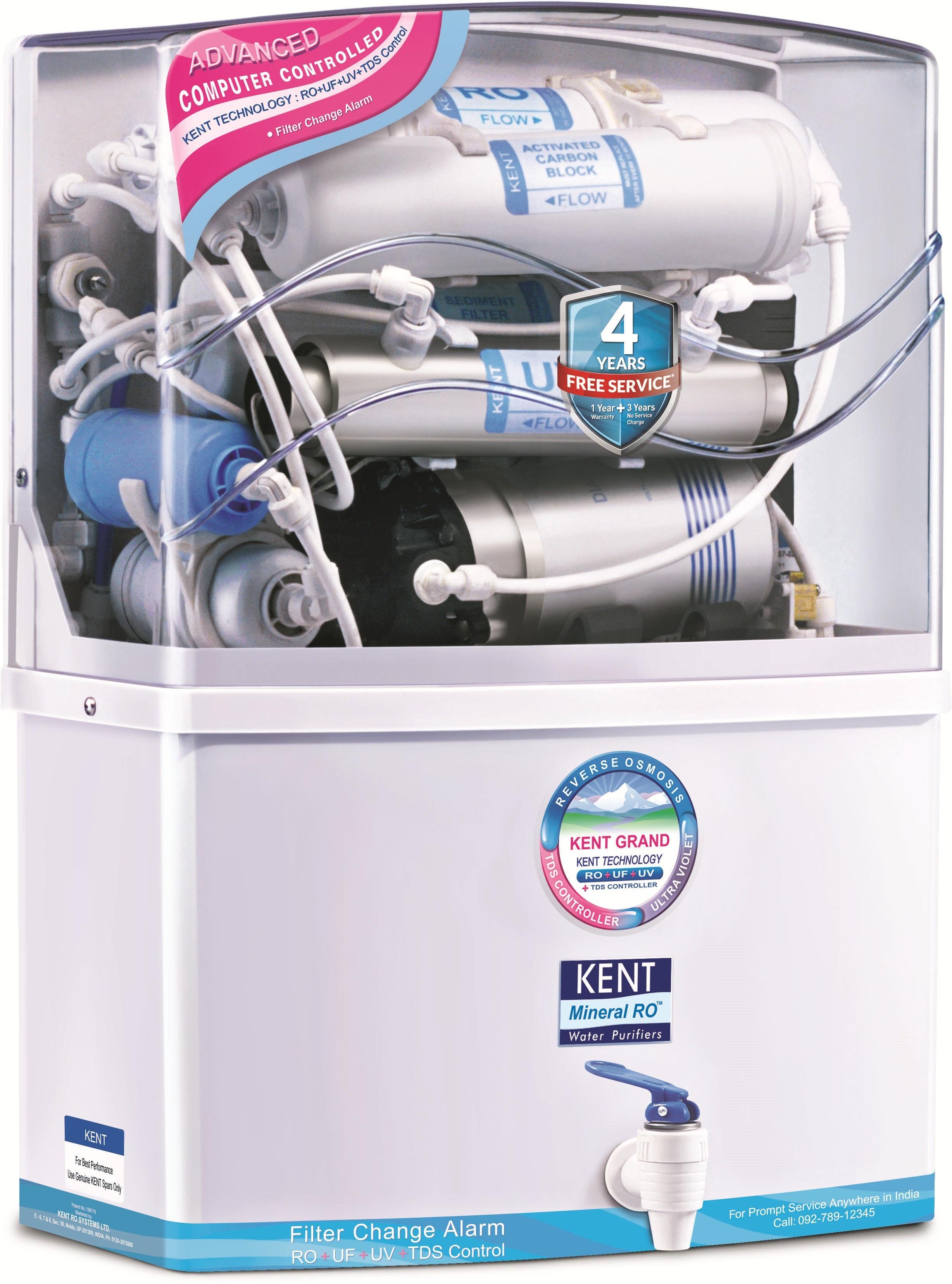 Kent Grand Mineral 11007 8 L Ro Uv Uf Water Purifier