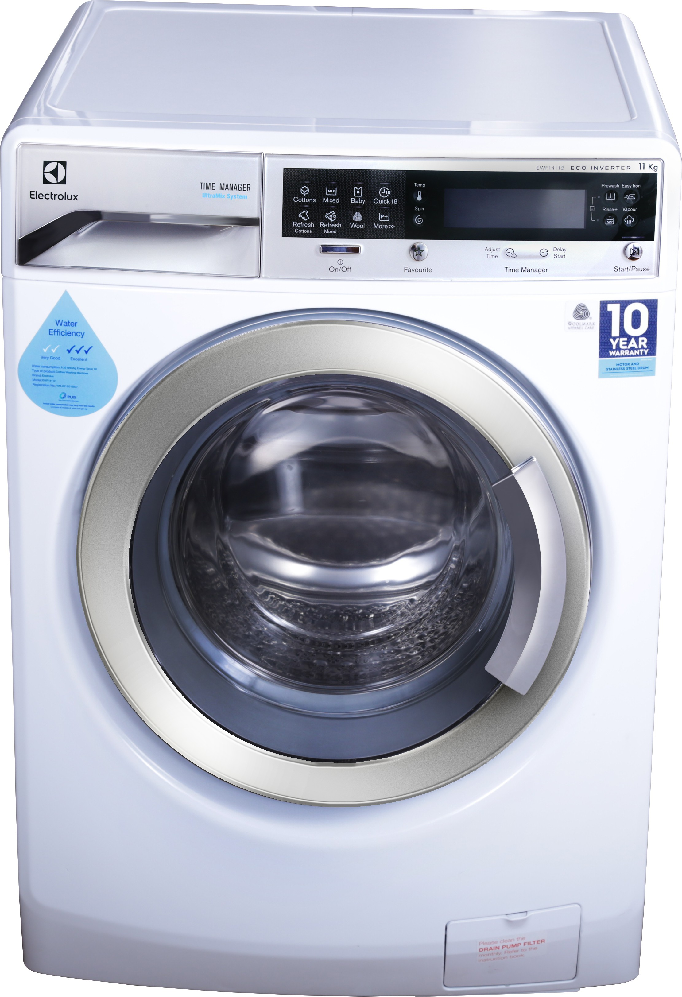 Electrolux 11 Kg Fully Automatic Front Load Washing Machine EWF14112 Image