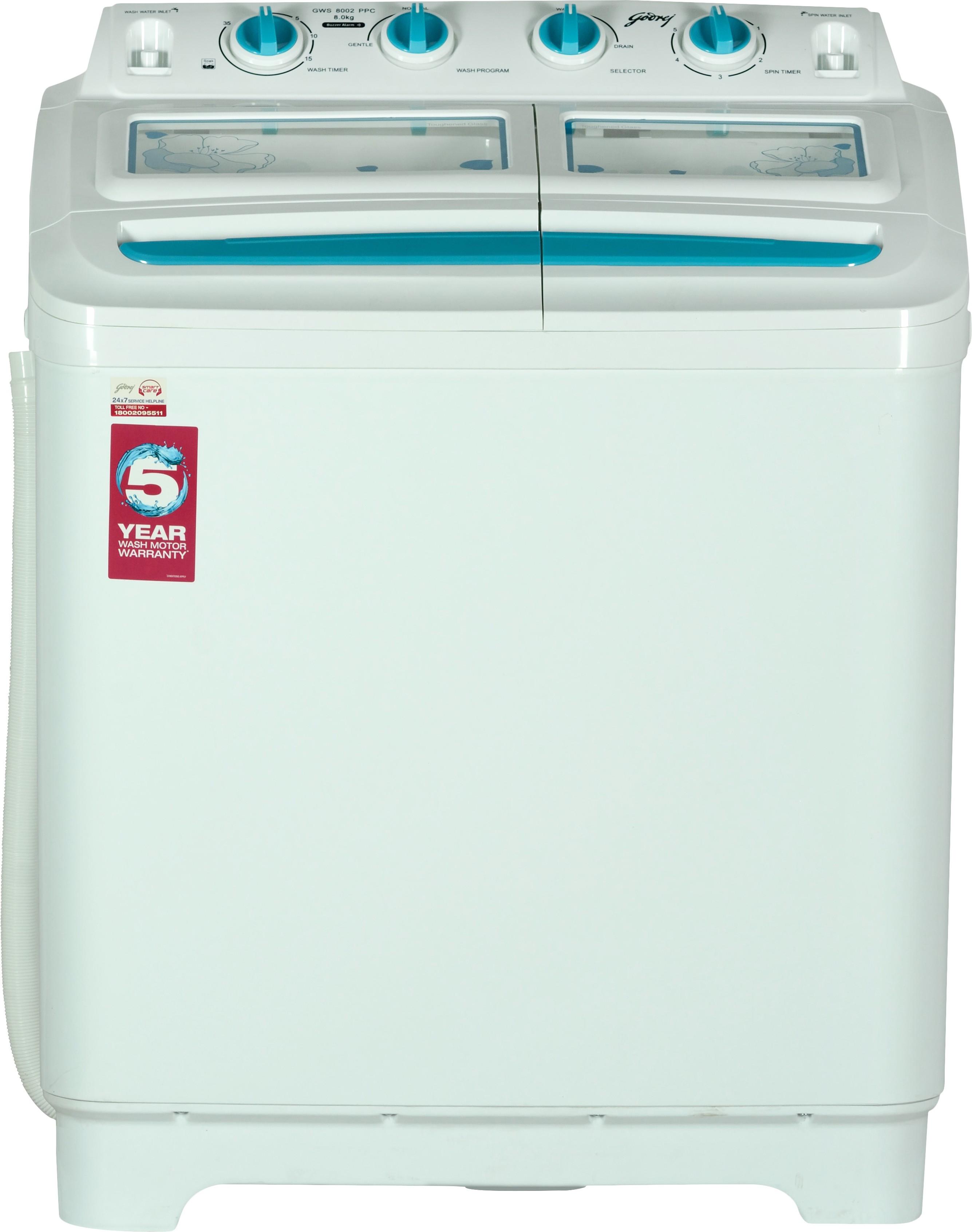 Godrej Semi Automatic Top Load (GWS 8002 PPC Aqua ) Image