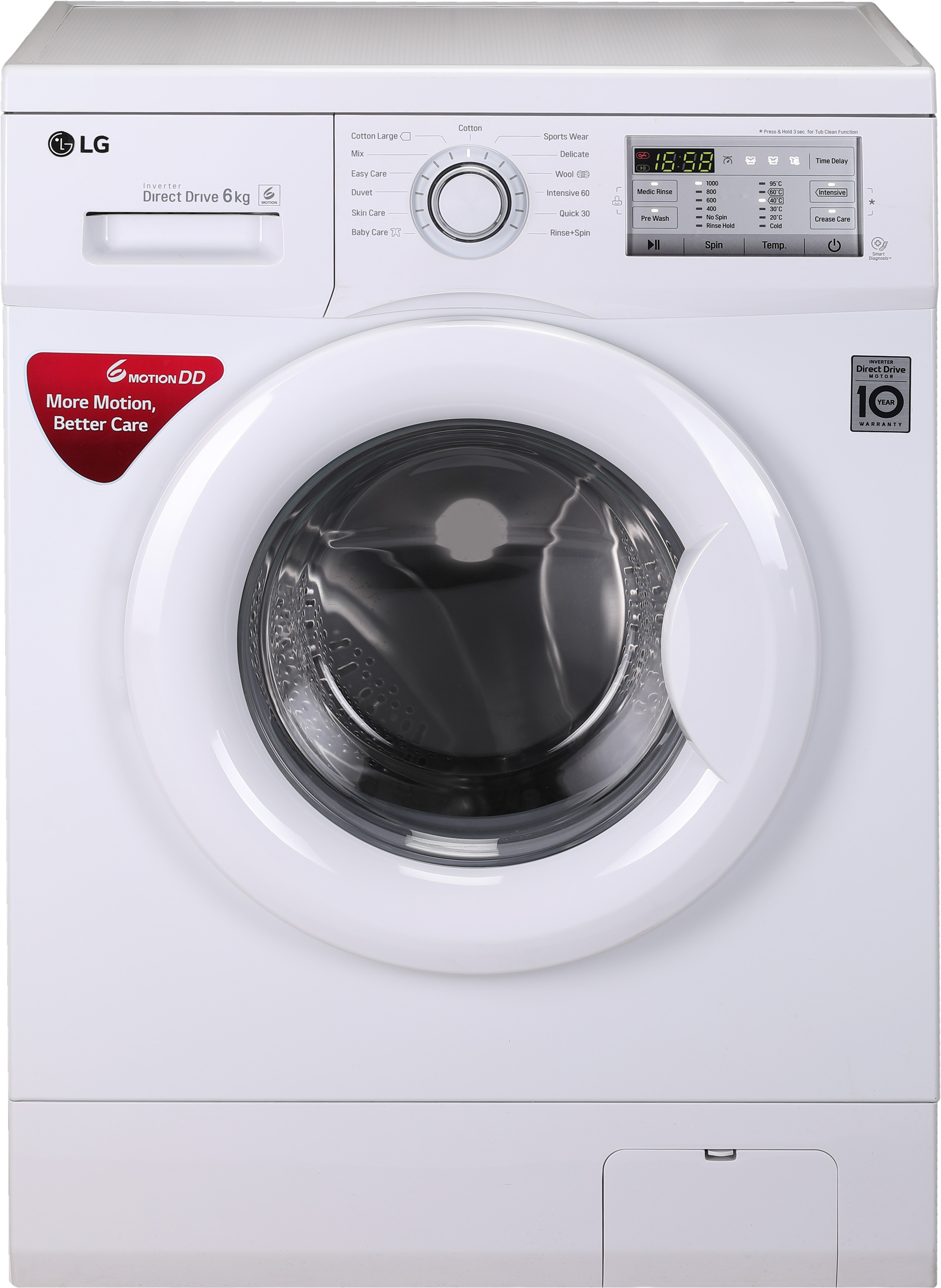 LG 6 kg Fully Automatic Front Load Washing Machine (FH0FANDNL02) Image