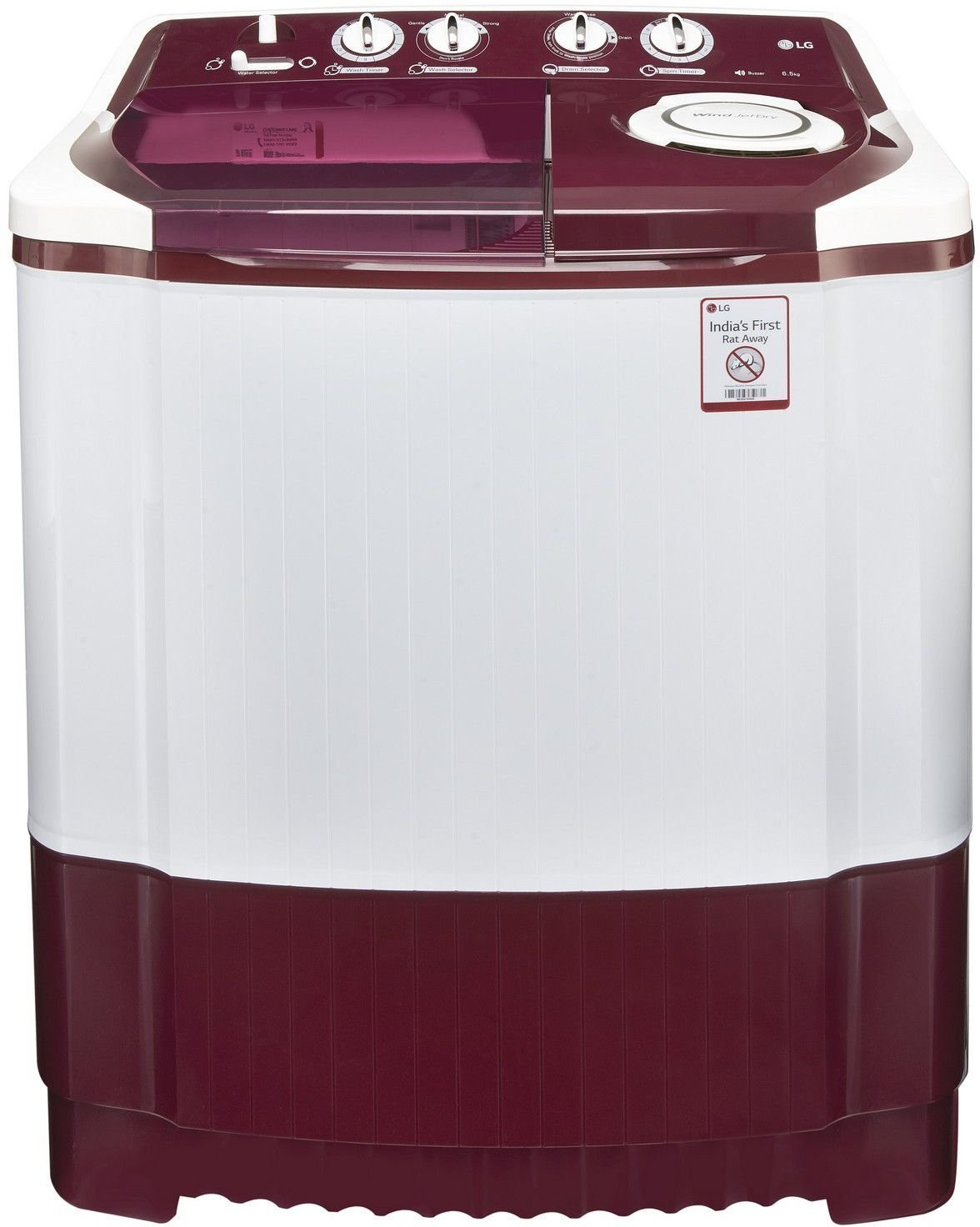 LG 6.5 kg Semi Automatic Top Load Washing Machine (P7559R3FA) Image