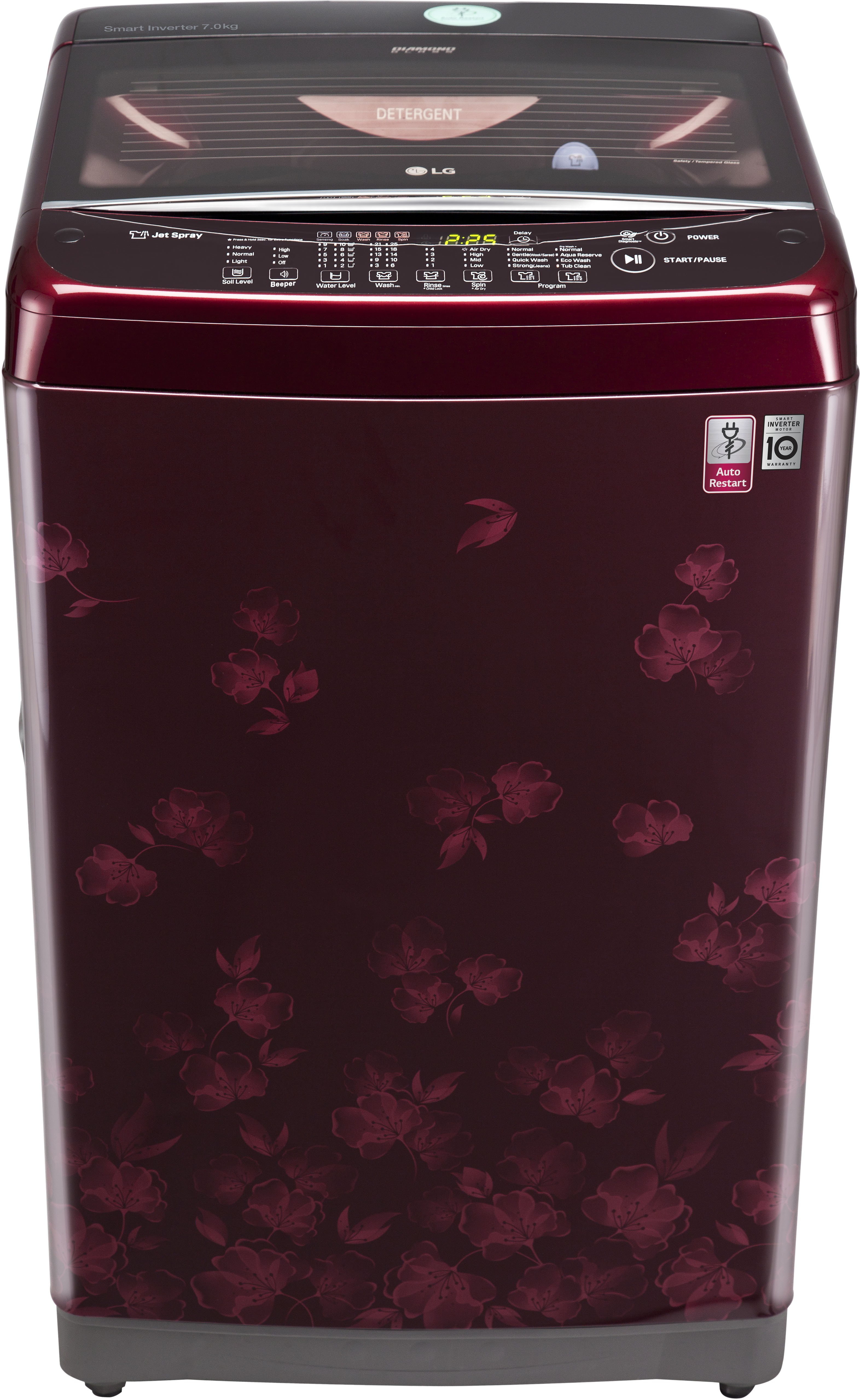 LG 7 kg Fully Automatic Top Load Washing Machine (T8077NEDLX) Image